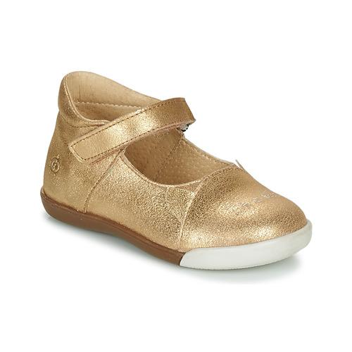 Topánky Dievčatá Balerínky a babies Citrouille et Compagnie LAKALA Zlatá