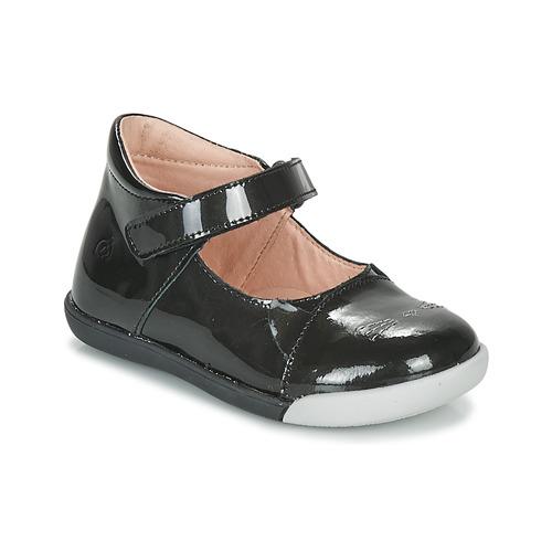 Topánky Dievčatá Balerínky a babies Citrouille et Compagnie LAKALA Čierna