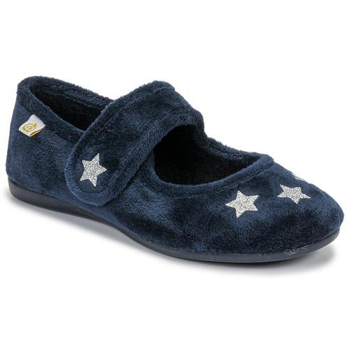 Topánky Dievčatá Papuče Citrouille et Compagnie LAFIFOU Námornícka modrá