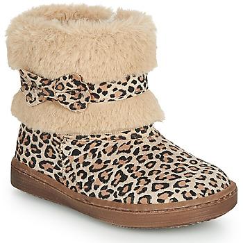 Topánky Dievčatá Polokozačky Citrouille et Compagnie LILIFA Ťavia hnedá / Leopard