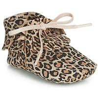 Topánky Dievčatá Papuče Citrouille et Compagnie LILIFI Ťavia hnedá / Leopard