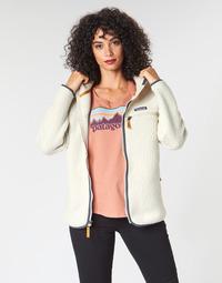Oblečenie Ženy Flísové mikiny Patagonia W'S RETRO PILE HOODY Biela
