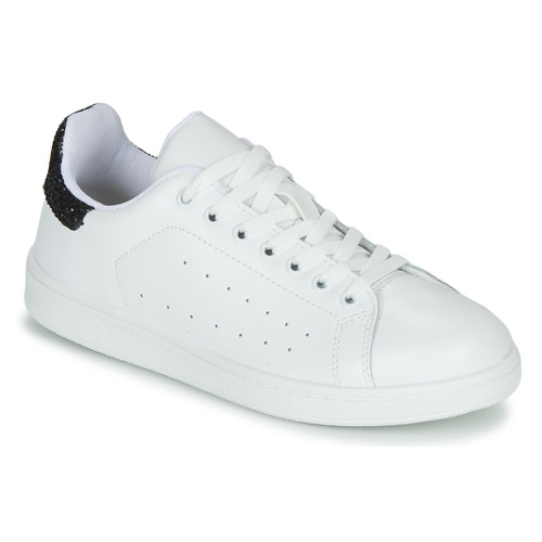 Topánky Ženy Nízke tenisky Yurban SATURNA Biela / Čierna