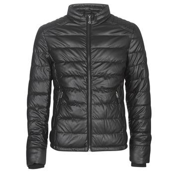 Oblečenie Muži Kožené bundy a syntetické bundy Guess STRETCH PU QUILTED Čierna