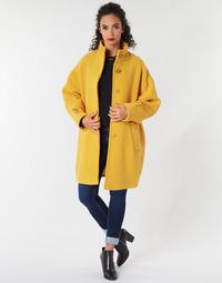 Oblečenie Ženy Kabáty Benetton STORI Žltá