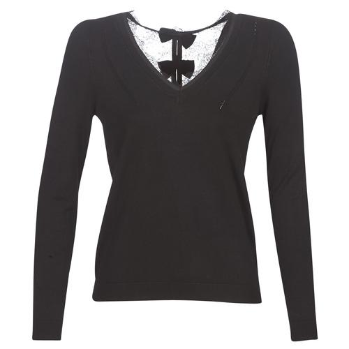 Oblečenie Ženy Svetre Naf Naf MITOU LONG NEW Čierna