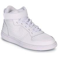 Topánky Deti Členkové tenisky Nike COURT BOROUGH MID PRE-SCHOOL Biela