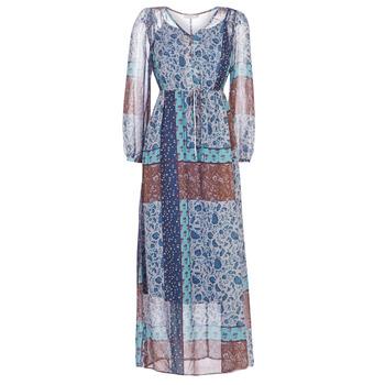 Oblečenie Ženy Dlhé šaty Cream SAMA Modrá / Hnedá