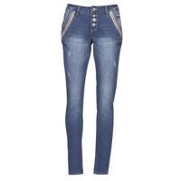 Oblečenie Ženy Rovné džínsy Cream DICTE Modrá