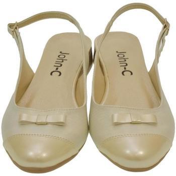 Topánky Ženy Sandále Just Mazzoni Dámske zlato-béžové sandále EVELINE zlatá