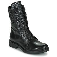 Topánky Ženy Polokozačky Mjus CAFE METAL Čierna / Hadí vzor