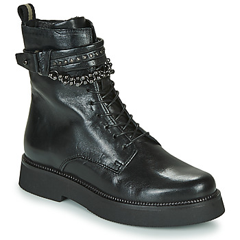Topánky Ženy Polokozačky Mjus TRIPLE STRAP Čierna