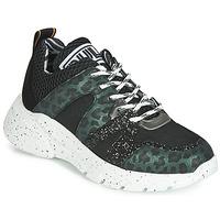Topánky Ženy Nízke tenisky Meline LETTE Čierna / Zelená
