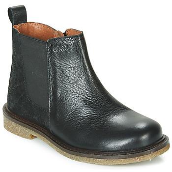 Topánky Dievčatá Polokozačky Aster WAXOU Čierna