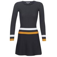 Oblečenie Ženy Krátke šaty Morgan ROXFA Námornícka modrá / Biela / Žltá
