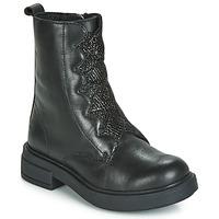 Topánky Dievčatá Polokozačky Gioseppo ABENBERG Čierna
