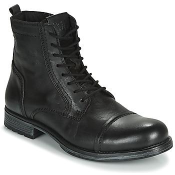 Topánky Muži Polokozačky Jack & Jones JFW RUSSEL LEATHER Čierna