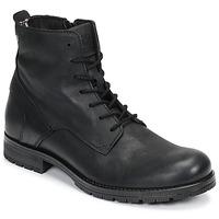 Topánky Muži Polokozačky Jack & Jones JFW ORCA LEATHER Čierna