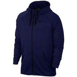 Oblečenie Muži Mikiny Nike Dry FZ Fleece Hoodie Trening Tmavomodrá