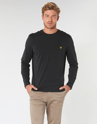 Oblečenie Muži Tričká s dlhým rukávom Lyle & Scott TS512V-574 Čierna
