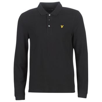 Oblečenie Muži Polokošele s dlhým rukávom Lyle & Scott LP400VB-574 Čierna