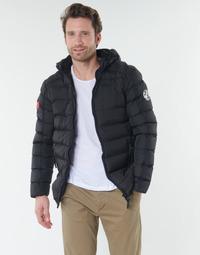 Oblečenie Muži Vyteplené bundy Geographical Norway BALANCE-NOIR Čierna