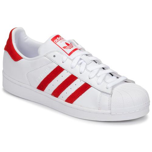 Topánky Nízke tenisky adidas Originals SUPERSTAR Biela / Červená