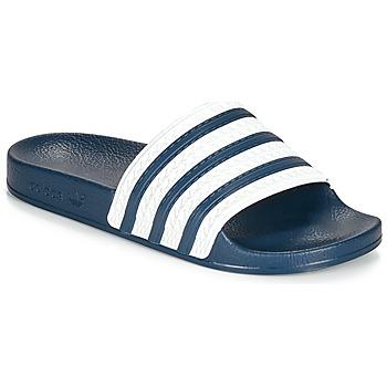 Topánky športové šľapky adidas Originals ADILETTE Modrá / Biela