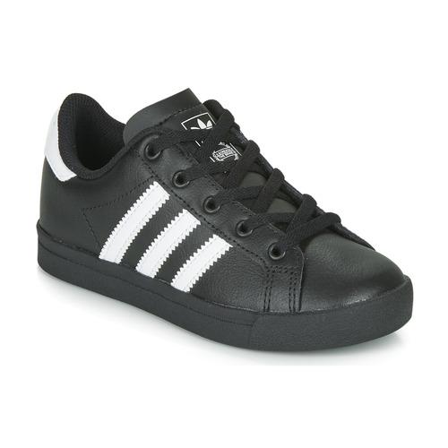 Topánky Deti Nízke tenisky adidas Originals COAST STAR C Čierna / Biela