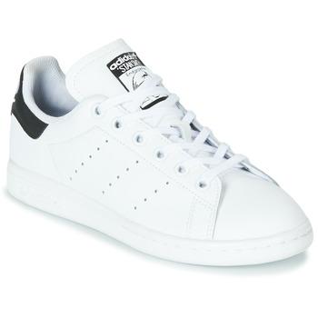 Topánky Deti Nízke tenisky adidas Originals STAN SMITH J Biela / Čierna