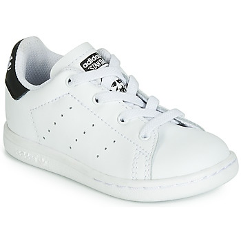 Topánky Deti Nízke tenisky adidas Originals STAN SMITH EL I Biela / Čierna