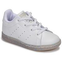 Topánky Dievčatá Nízke tenisky adidas Originals STAN SMITH EL I Biela / Trblietkavá
