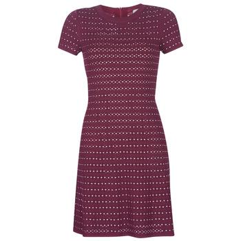 Oblečenie Ženy Krátke šaty MICHAEL Michael Kors EMBELL FLARE MINI DRS Bordová