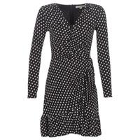 Oblečenie Ženy Krátke šaty MICHAEL Michael Kors ELV DOT SHRD LS DRS Čierna