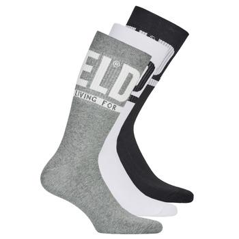 Textilné doplnky Muži Ponožky Diesel SKM-RAY-THREEPACK-0QATV-E3843 Čierna / Šedá / Biela