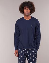Oblečenie Muži Tričká s dlhým rukávom Ralph Lauren L/S CREW-CREW-SLEEP TOP Námornícka modrá