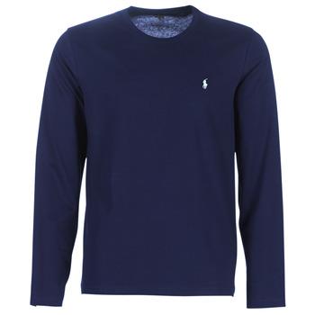 Oblečenie Muži Tričká s dlhým rukávom Polo Ralph Lauren L/S CREW-CREW-SLEEP TOP Námornícka modrá