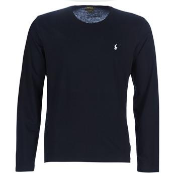 Oblečenie Muži Tričká s dlhým rukávom Ralph Lauren L/S CREW-CREW-SLEEP TOP Čierna