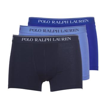 Spodná bielizeň Muži Boxerky Polo Ralph Lauren CLASSIC-3 PACK-TRUNK Modrá