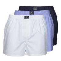 Spodná bielizeň Muži Spodky Polo Ralph Lauren OPEN BOXER-3 PACK-BOXER Biela / Modrá / Námornícka modrá