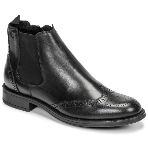 Topánky Muži Polokozačky Carlington LEVOTO Čierna