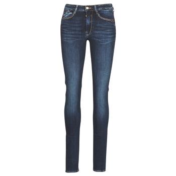 Oblečenie Ženy Džínsy Slim Le Temps des Cerises PULP HIGH SLIM Modrá
