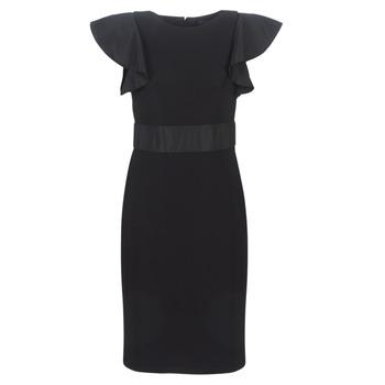 Oblečenie Ženy Krátke šaty Lauren Ralph Lauren JERSEY SLEEVELESS COCKTAIL DRESS Čierna