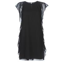 Oblečenie Ženy Krátke šaty Lauren Ralph Lauren RUFFLED GEORGETTE DRESS Čierna