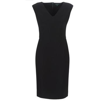 Oblečenie Ženy Dlhé šaty Lauren Ralph Lauren BLACK CAP SLEEVE DAY DRESS Čierna
