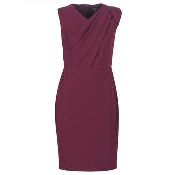 Oblečenie Ženy Dlhé šaty Lauren Ralph Lauren RUBY SLEEVELESS DAY DRESS Bordová
