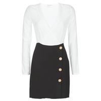 Oblečenie Ženy Krátke šaty Moony Mood LUCE Čierna / Biela
