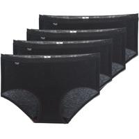 Spodná bielizeň Ženy Klasické nohavičky Sloggi  BASIC+ X 4 Čierna