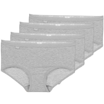 Spodná bielizeň Ženy Klasické nohavičky Sloggi BASIC+ X 4 Šedá
