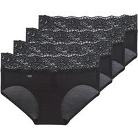 Spodná bielizeň Ženy Klasické nohavičky Sloggi  ROMANCE X 4 Čierna